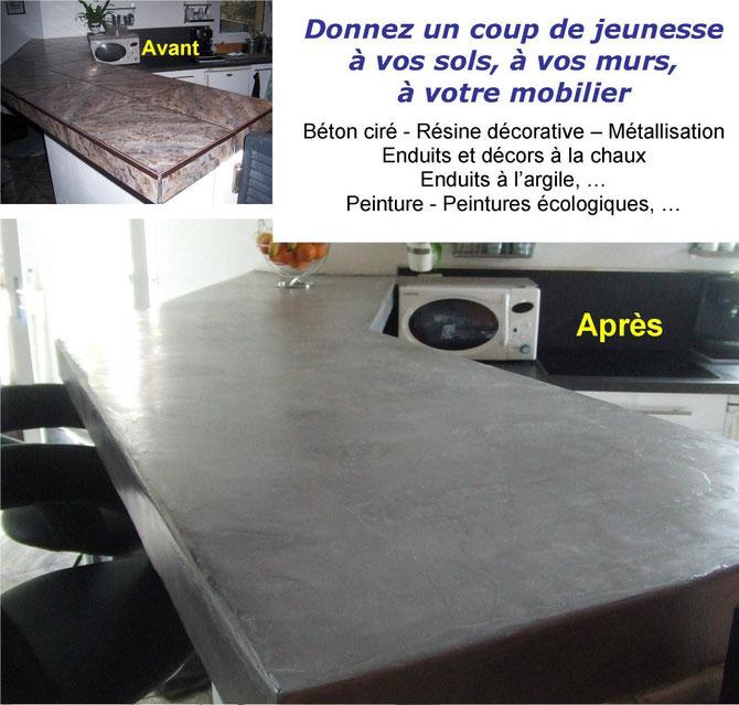 Artisan-Port-camargue-Courtier-en-travaux-Port-Camargue-Travau- décoration-intérieur-Béton-ciré
