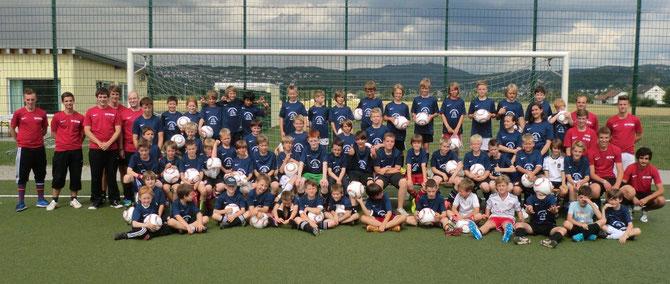 60 Kinder nahmen an der diesjährigen Fußballferienfreizeit teil.