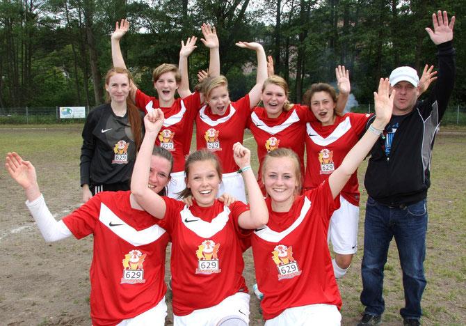 Die B-Juniorinnen konnten verdient den Gewinn der Kreismeisterschaft feiern.