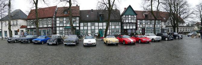 Trotz hoher Luftfeuchtigkeit am 25.03.2016 in Bad Essen zu Gast: die Oldtimer IG Osnabrück !