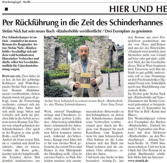 Bericht des Wochenspiegels vom 14.09.11, Text u. Foto: Sina Ternis