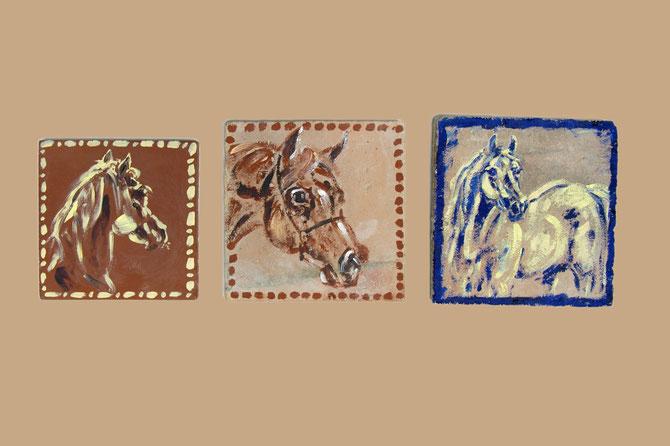 Original bemalte Terracotta-Kacheln aus Südfrankreich