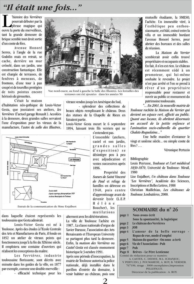 Gazette des Chalets, été 2001