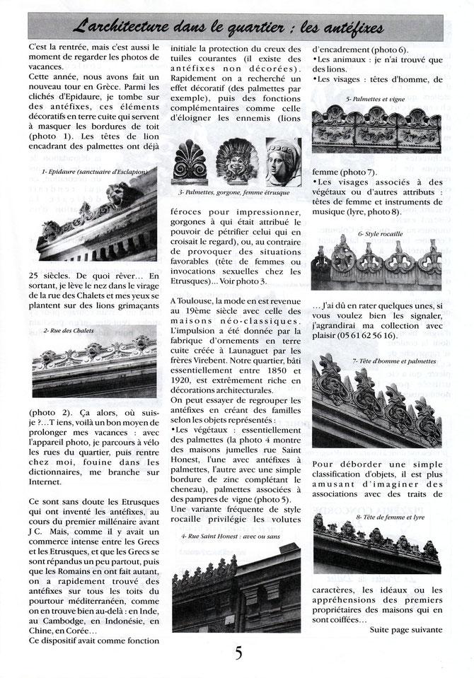 Gazette des Chalets n°20 - Automne 2000