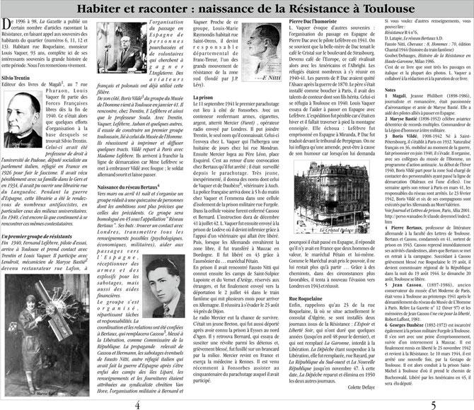 Gazette n°36 - Hiver 2003