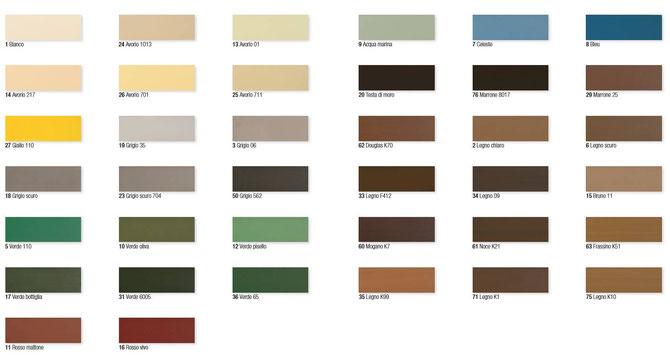Colori per tapparella PVC