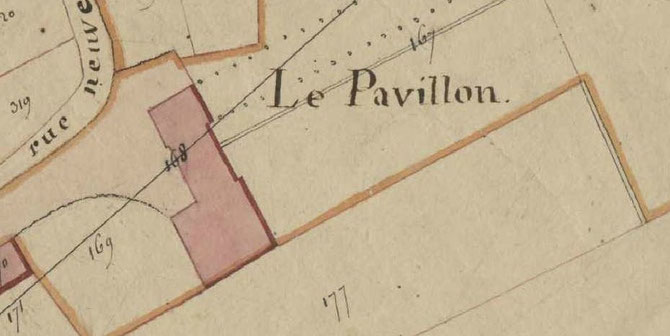 AD 37, Section B1, 1813, agrandissement du Pavillon