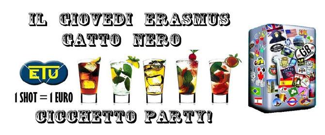Giovedi' erasmus Gatto nero - Cicch-etu party!