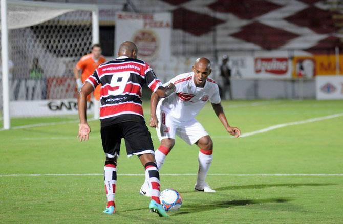 Luiz Alberto, en su primer partido con el Náutico ante el Santa Cruz.