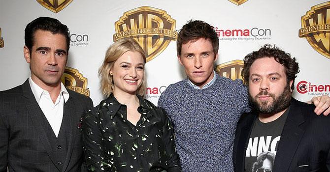 Colin Farrell, Alison Sudol, Eddie Redmayne et Dan Fogler au CinemaCon à Las Vegas