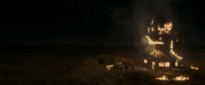 Le Terrier incendié (Harry Potter et le Prince de Sang-Mêlé - 2009)