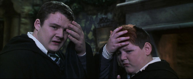 Harry et Ron, reprenant leur véritable apparence (Harry Potter et la Chambre des Secrets - 2002)