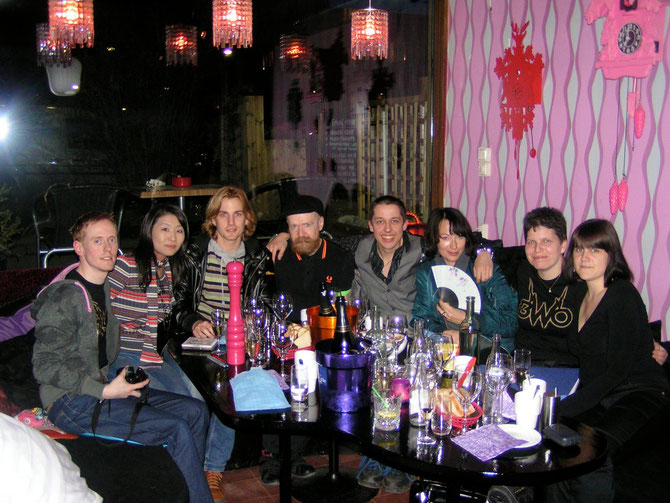 Thomas, Natsuki, Martin, Alexander, Jurgen, Marina, Nettan & Jenny beim BWO FanClub-Treffen 2009