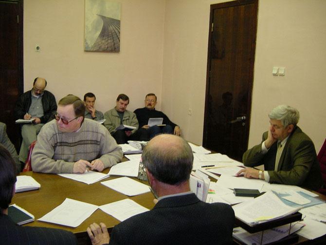 Совещание у руководителя космическими полётами Владимира Соловьёва