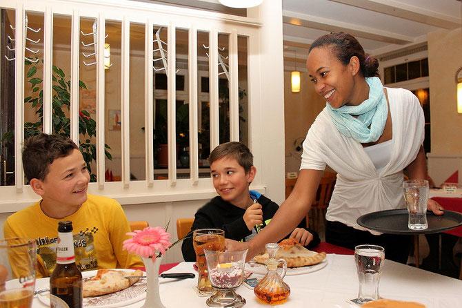 Pizzarestaurant - viel Spass auch für Kinder