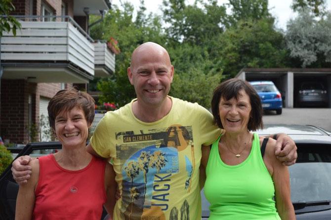 Hubert mit den beiden Mädels