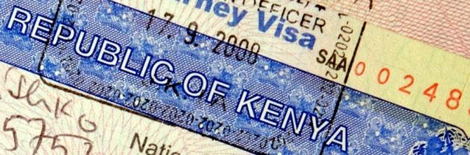 Visa. Repubblica del Kenya