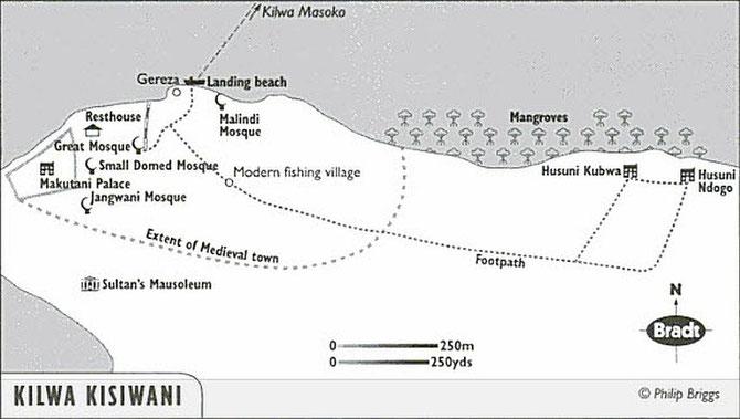 Kilwa Kisiwani - Mappa.