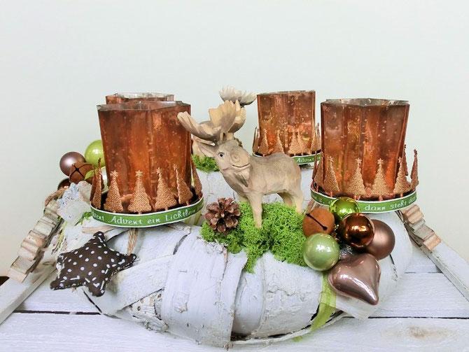 Adventskranz Kanadischer Winter, 35 cm, Preis € 70,-