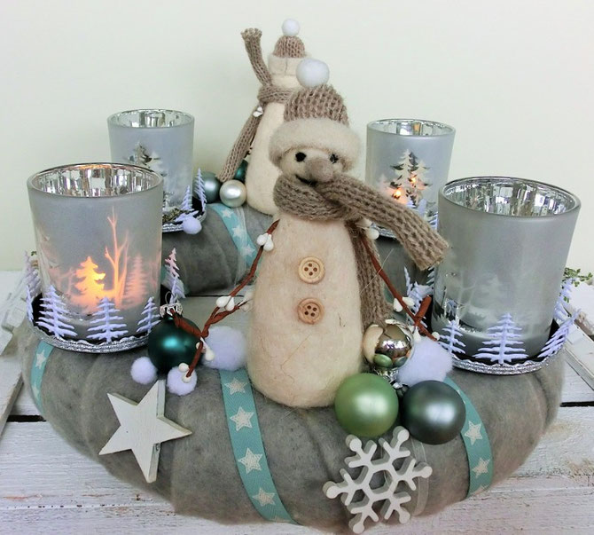 Adventskranz Frosty the Snowman, 35 cm, Preis € 76,50