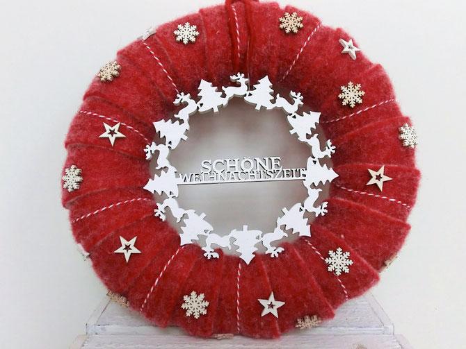 Türkranz Oh Du schöne Weihnachtszeit