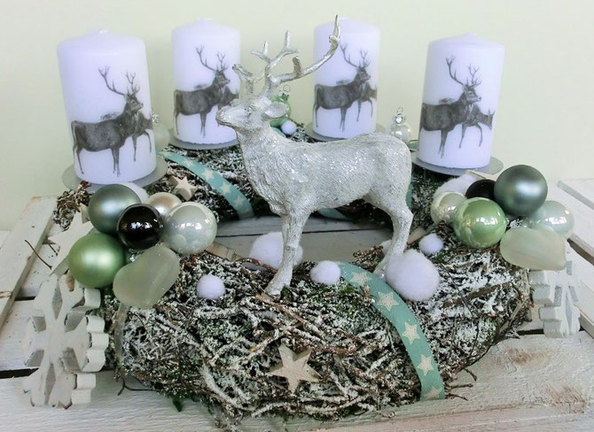 Adventskranz Frozen Forest, 35 cm, € 67,-