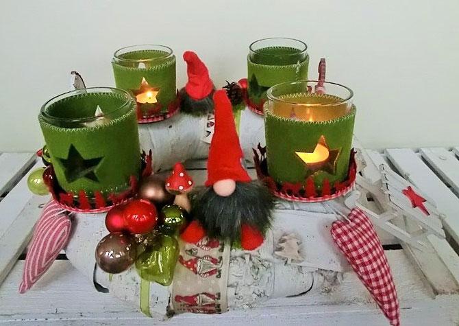 """Adventskranz """"Winter i mog di"""", 35 cm, Preis € 75,-"""