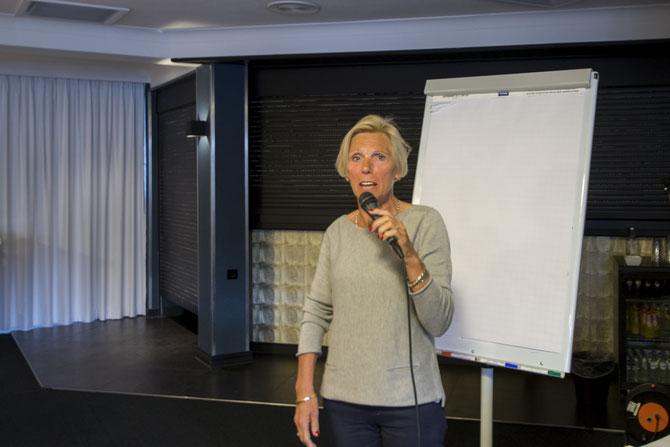 De nieuwe secretaris Annie Heeren.