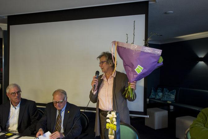 Marjan Pegman neemt afscheid als penningmeester.