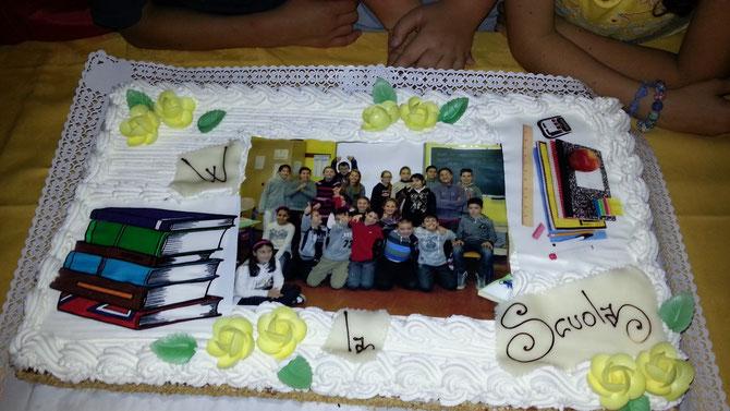 Torta festa finale classe quinta 06/06/2013