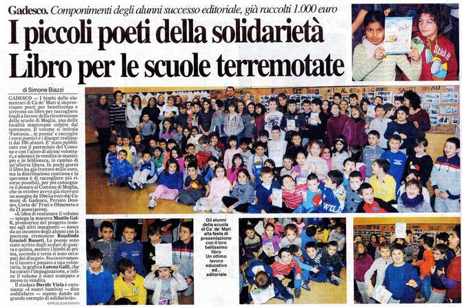 """Articolo pubblicato dal quotidiano di Cremona""""La provincia"""" in data 18/01/2013"""
