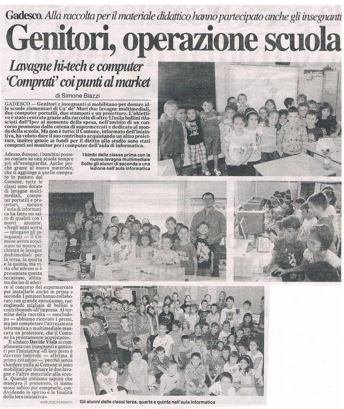 """Articolo pubblicato dal quotidiano di Cremona """"La Provincia"""" in data 28/09/2013"""