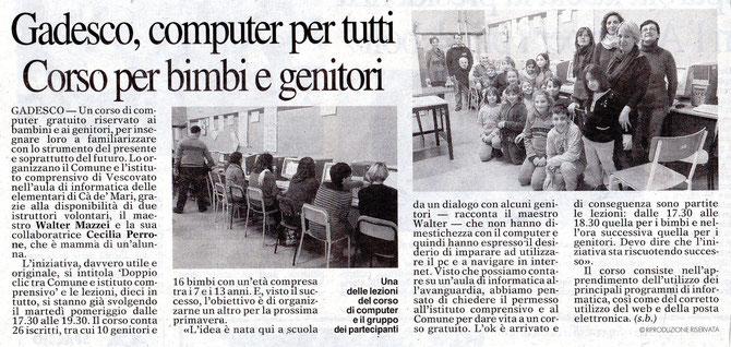 """Articolo pubblicato dal quotidiano di Cremona""""La provincia"""" in data 24/01/2013"""