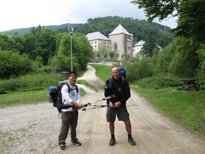 Endlich auf der andere Seite von Pyrenäen in KLoster Roncesvalles.