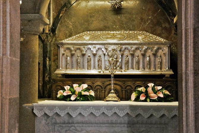 """Grab von Apostel Jakobus, (Bruder des Johannes) der hier am """"Ende der Welt"""" in Galicien um 43 n.Chr. missionierte."""