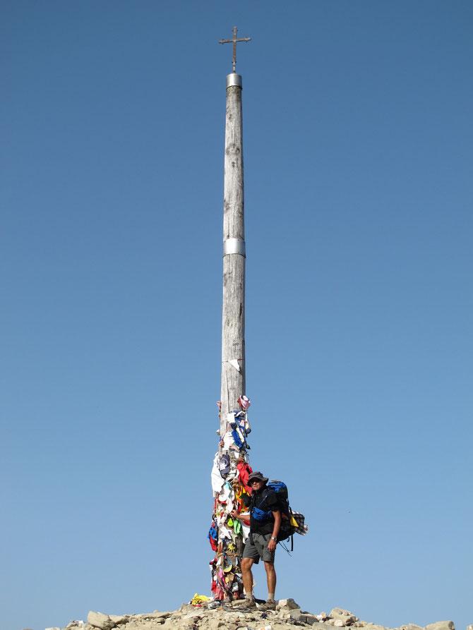 Cruz de Ferro, 1500 m, höchster Punkt auf dem spanischen Weg