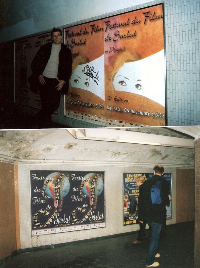 affiche festival du film Sarlat dans le métro parisien