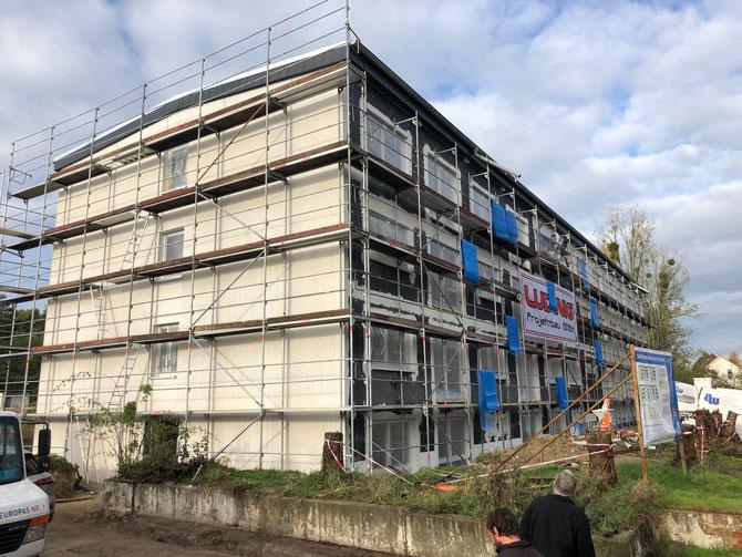 Sanierung eines Kasernengebäudes zu altengerechten Wohnungen in Walbeck - Entwurf Stefan Ludwig
