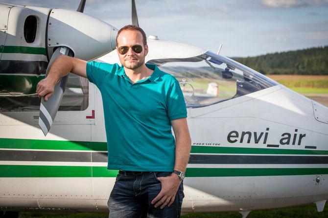Markus Duwe vor Hagelflieger D-GERY in Schwenningen