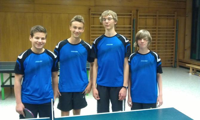 v.l.n.r.: Moritz Kaspari, Patrick Schönhofen, Paul Schmitz, Maurice Schmitt-Hartlieb