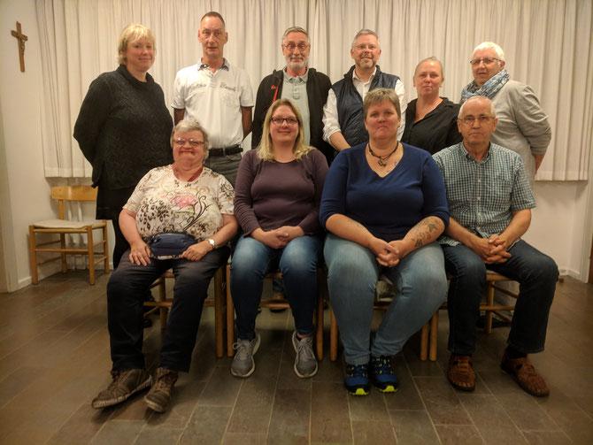 Det nye menighedsråd til Nordvest danske menighed i oktober 2018