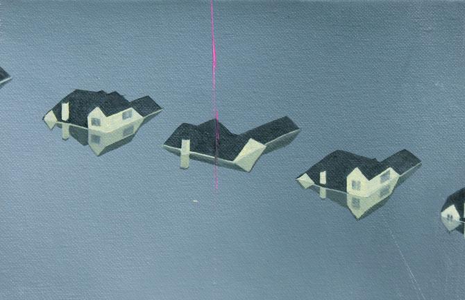 Flut, oil on paper, 15x22cm