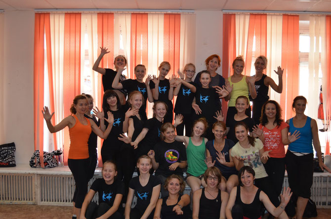 Ксения Петренко с участниками мастер-класса