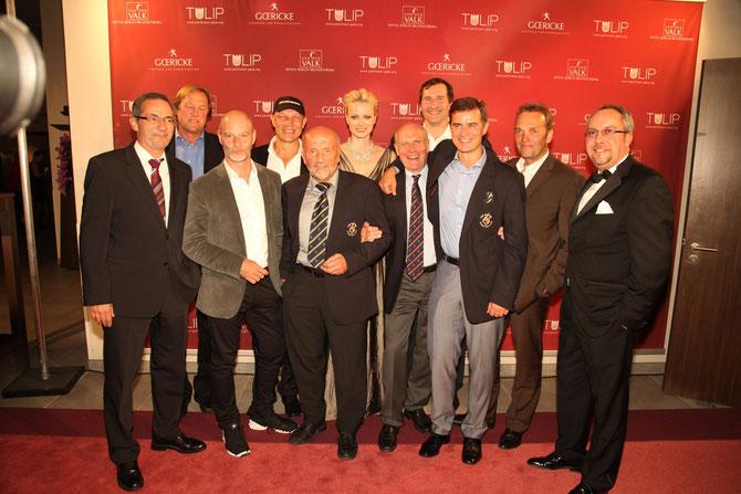 Auch 2012 erhielt die TULIP prominente Unterstützung. Hier der EAGLES e.V. mit MP Matthias Platzeck