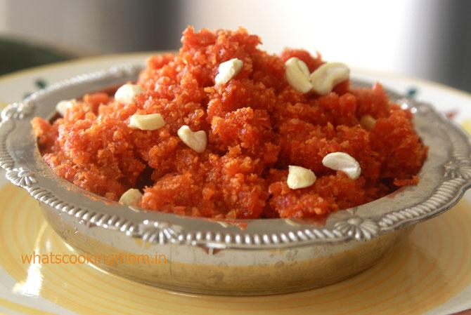 Gajar halwa ricetta dolce cucina indiana