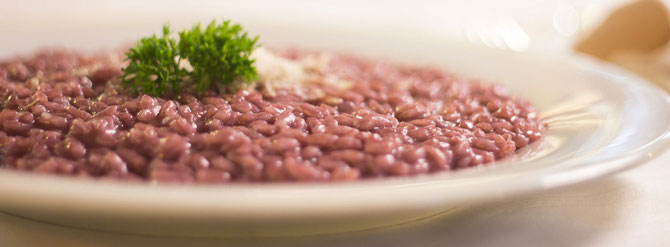Ricetta: risotto all'Amarone ( vino rosso granato)