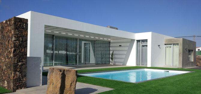 Villa Turquesa en Lajares - obra terminada