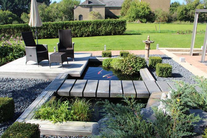 moderner teich steinfort fressnapf teichwelt luxembourg. Black Bedroom Furniture Sets. Home Design Ideas