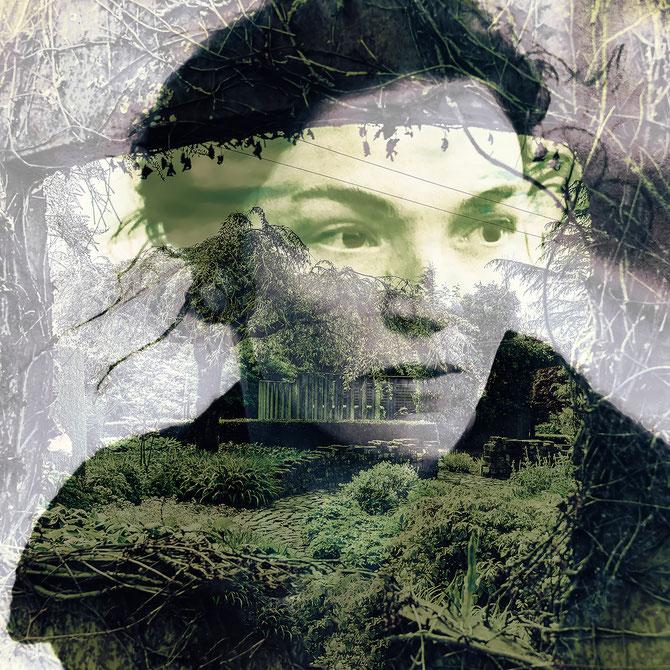 Grüne Zukunft?  (aus der Serie GRÜN), Canvas, 80 x 80 cm