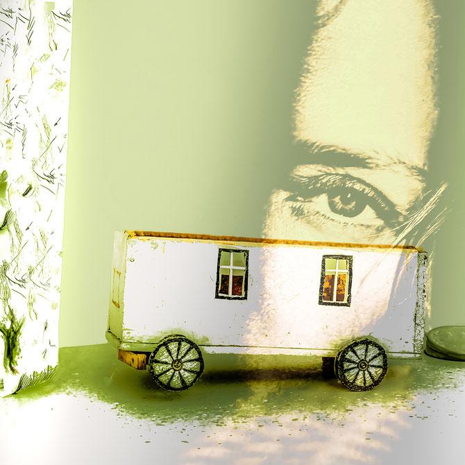 Sei achtsam (aus der Serie GRÜN), Canvas, 80 x 80 cm